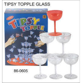 TIPSY TOPPLE GLASS