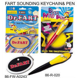 FART SOUNDING KEYCHAIN & PEN (FART ЗОНДИРОВАНИЕ KeyChain & ПЕН)