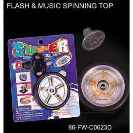 FLASH & MUSIC SPINNING TOP (FLASH & MUSIC волчок)