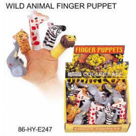 WILD ANIMAL FINGER PUPPET (Wild Animal FINGER КУКОЛ)