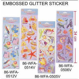 EMBOSSED GLITTER STICKER (GEPRÄGTE GLITTER STICKER)