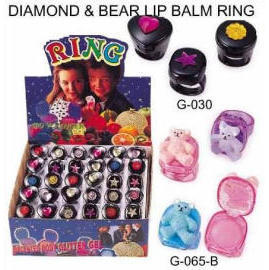 DIAMOND & BEAR LIP BALM RING (DIAMOND & BEAR LIP БАЛЬЗАМ КОЛЬЦО)