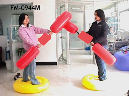 INFLATABLE PUMMEL STICK SET. PATENT NO.: CHINA ZL03 2 41826.4