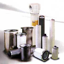 pneumatic component and system, filter for compressed air, air and oil separator