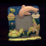 PAPER CLAY MADE PHOTO FRAME