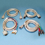 Video Cable Assemblies for PDP/Projector to DBS, DVD, XBOX, PC, PS2