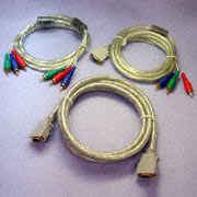 Video Cable - Clear Video Cable Assemblies (Ferrite Core) for PDP/Projector to D