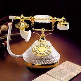 Crystal Telephone, Antique/classic Telephone