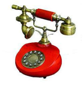 Wood Telephone, Antique/classic Telephone, Round