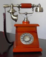Wood Telephone, Antique/classic Telephone, Quadrate