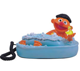 Sesamestreet Telephone-Ernie in Bath Tub