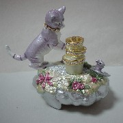JM-172 Jewel Box, Mouse & Cat (JM-172 Jewel Box, Cat & Mouse)