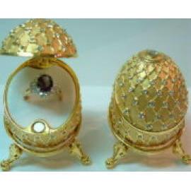 Pewter Decorations/Jewel Box Inside With Case (Pewter Décors / Jewel Box intérieur avec l`affaire)