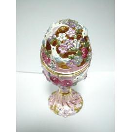 Potpourri Pot / Birds / Egg / Stand (Pot-pourri Pot / Oiseaux / Egg / Stand)