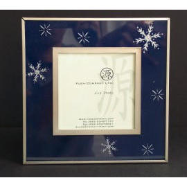 Photo Frame w/Sand Blast - Blue (Photo Frame w / Sand Blast - Blue)