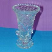V-107 Crystal Glass Vase, 4-1/2``