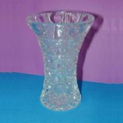 V-109 Crystal Glass Vase, 4``