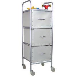 3 Tier storage trolley with 3 PP drawers (SL-3013-ISS) (3 уровня хранения тележка с 3 ящиками ПП (SL-3013-МКС))