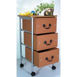 3 Tiers storage strolley with wood cover & 3 drawers (SL-A001-INN) (3 уровнями хранения strolley с крышкой древесины & 3 ящиками (SL-A001-INN))