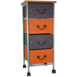4 tiers storage trolley with wood cover & 4 drawers (SL-A002-INN) (4 яруса хранения тележки с крышкой древесины & 4 ящиками (SL-A002-INN))