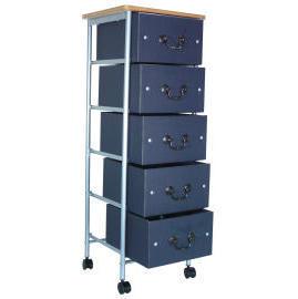 5 Tiers storage trolley with wood cover & 5 drawers (SL-A003-INN) (5 ярусов хранения тележки с крышкой древесины & 5 ящиками (SL-A003-INN))