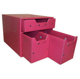 Storage box with 3 drawers (cardboard) (SL-AP05-ICL)