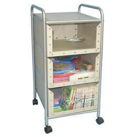 3-tier storage trolley with 3 cardboard drawers (SL-B313A-INN) (3 уровня хранения тележка с 3 ящиками картона (SL-B313A-INN))