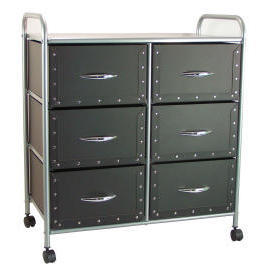 3 tiers storage trolley/rack with 6 cardboard drawers (3 яруса хранения тележки / стойка с 6 картонные ящики)