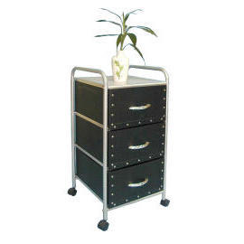 3-tier storage trolley with 3 cardboard drawers (3 уровня хранения тележка с 3 картонные ящики)