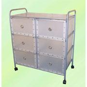 3-tier storage trolley/rack with 6 PP drawers (3 уровня, тележки для хранения / стойка с 6 ящиками ПП)