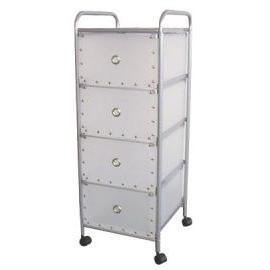 4-tier storage trolley/rack with 4 PP drawers (4 уровня, тележки для хранения / стойка с 4 ящиками ПП)