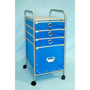 Storage trolley with 1 large & 3 small drawers (SL-IA07-ISL)