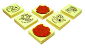 Wooden Rubber Stamp (Flowers) (Деревянный Rubber Stamp (цветы))