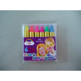 Face and Body Painting Crayons--6 neon colors type