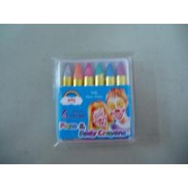 Face and Body Painting Crayons--6 pearl colors type (Лица и тела Мелки Живопись - 6 перл цветами)