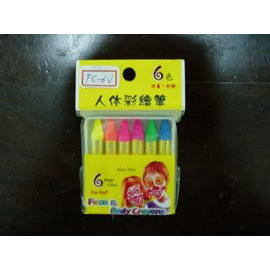 Face and Body Painting Crayons--6 colors in OPP hanging bag (Face and Body Painting Crayons--6 colors in OPP hanging bag)