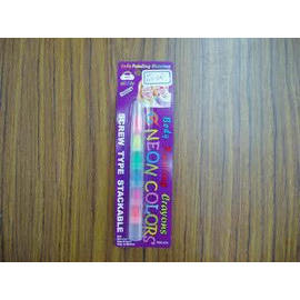 Face and Body Painting Crayons--neon color multi section screw type