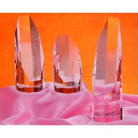 Crystal trophy/award/plaque