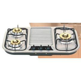Three gas burners of Euro counter top gas stove (Три газовые горелки Евро счетчик Top газовая)