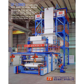 PLASTIC EXTRUDER, LD/LLDPE RESIN HIGH SPEED INFLATION MACHINE