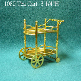 Tea Cart,Miniature Brass