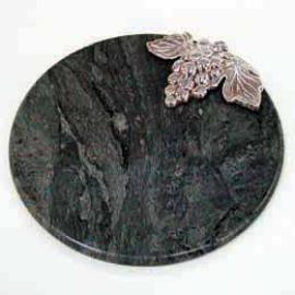 Round Cheese Board W/grape Decorate (Круглый сыр совета Вт / виноград Украсить)