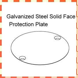Galvanized Steel Solid Face Protection Plate (Оцинкованная сталь Solid защиты лица Plate)