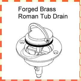 Forged Brass Roman Tub Drain (Кованые латунные Римская ванна Канализация)