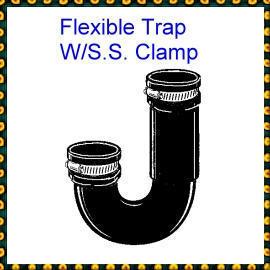 ThermoPlastic Flexible Trap W/S.S. Clamp (Термопластичные Гибкая ловушку W / S.S. Зажим)