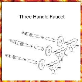Three Handle Faucet( Valve Trim & Rebuild Kit)