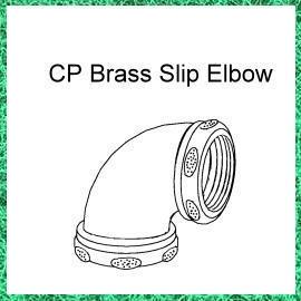 Brass 90 ¢ X Slip Joint Male Elbow (Brass 90 ¢ X Slip Joint Male Elbow)