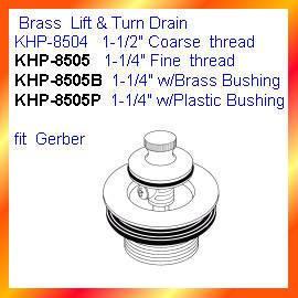 Brass Lift & Turn Drain (Латунь лифт & Turn Канализация)
