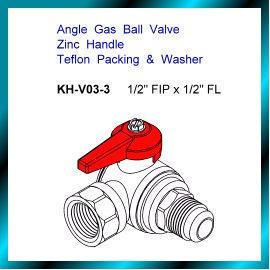 Brass Angle Gas Ball Valve