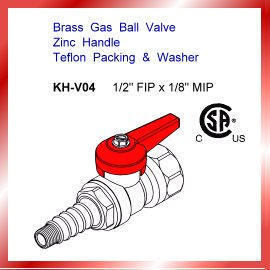 Brass Angle Gas Ball Valve